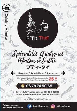 P'Tit Thai Menu Cover 2021