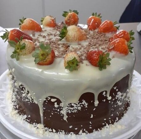 Torta de Morango Belga.