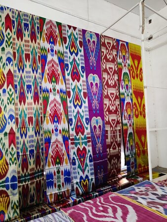 Margilan, Uzbekistan: Very good place to buy uzbek traditional vearing materials. Good pricing, in some places twice cheaper than Tashkent