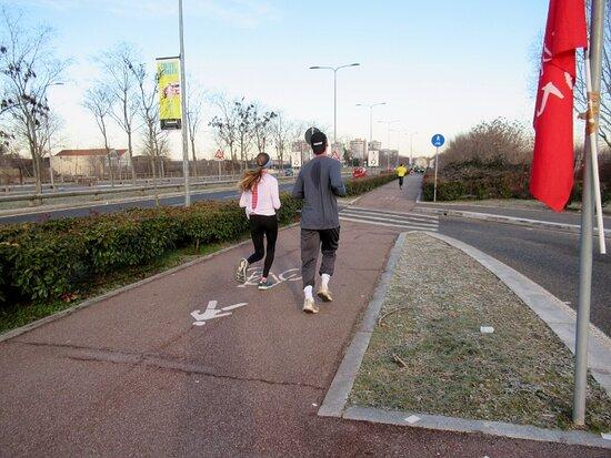 Milan, Italy: La pista ciclopedonale