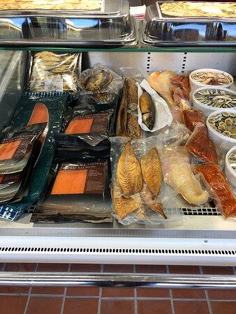 Smoked fish selection