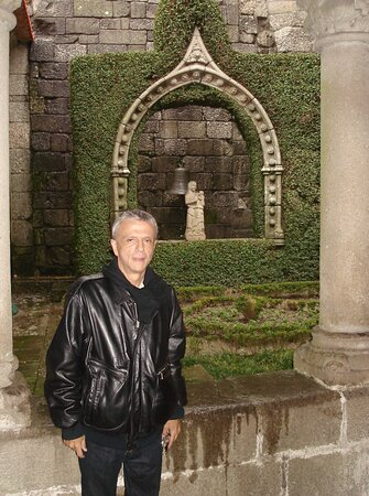 """Old cloisters and shrine at the """"Museu de Alberto Sampaio"""" in Guimarães."""
