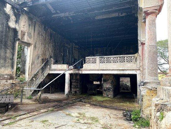 machine upstairs was still in use