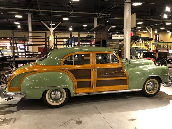 This 1948 Chrysler Town & Country was owned by the factory's owner. Parts of it were manufactured in this location, now the museum.