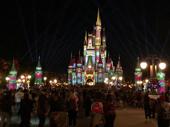 Another view of the Castle during the holiday season