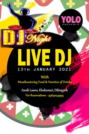 Celebrate this Bhogali Bihu with a dazzling DJ party with booming beats, lip-smacking food, unlimited drinks and of course endless fun 😍😍😍 Address - Anvik Lawns, Khaliamari, Dibrugarh-05 For Reservations kindly Contact - 9365054995 #smile #eat #laugh #talk #kiss #drink #shout #dj #party #youonlyliveonce😊🍽😀😌😘🍺😜💃💞