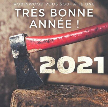Robinwood vous souhaite de passer une très belle année 2021 ! 🥳🎉  Nous espérons vous retrouver très vite 😄