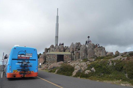 kunanyi / Mt Wellington Explorer Bus - 2 Hour Return Tour: bus stop at The Pinacle
