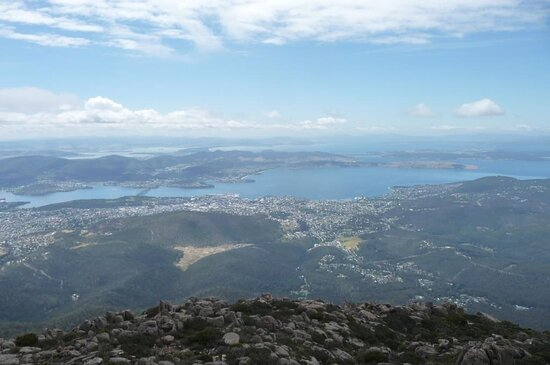 kunanyi / Mt Wellington Explorer Bus - 2 Hour Return Tour: views across Hobart