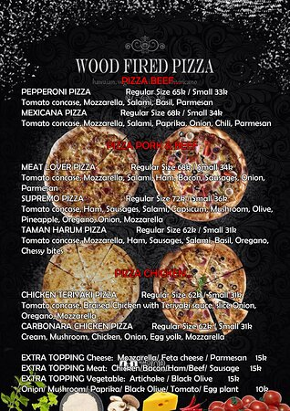WARUNG THOR'S PIZZA MENU