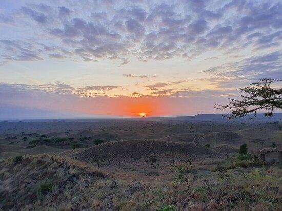 Sunrises with fresh coffee at the Maasai lodge