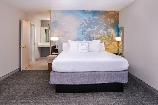 King One-Bedroom Suite Sleeping Area