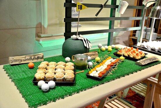 Golf Themed Food Table Setup