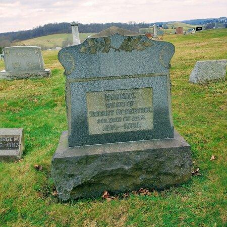 Various old tombstones
