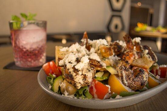Blackened Shrimp Panzanella Salad