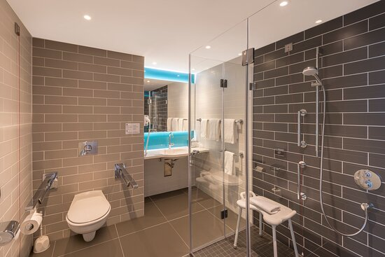 spacious bathroom with al requirements for our disabled guests