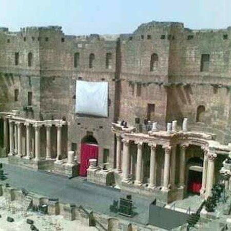 Συρία: Roman amphitheater in the city of Basra Slsham in Syria 🇸🇾