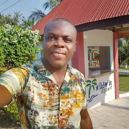 Wildwin Resort, Lake Bosomtwi.located  at the Ashanti Region. Ghana.  This is a beautiful place outside the city where you can relax and interact with the locals in the community. Also having good food. You don't need to pay entrance fees.   My name is Mordecai Q. Manger for Travel time Africa