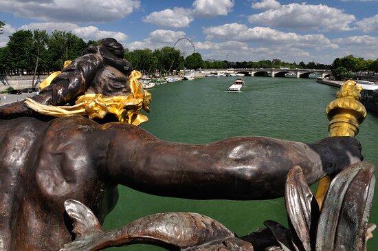 Παρίσι, Γαλλία: El Sena desde el puente de Alexandre III