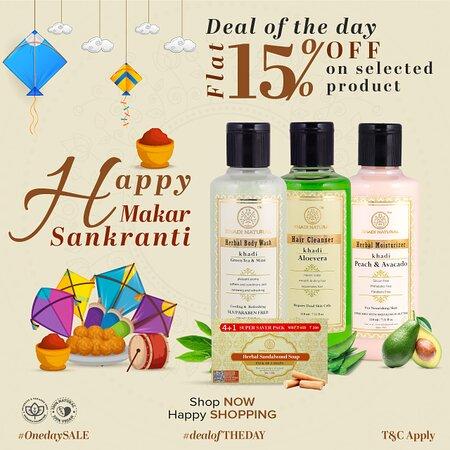 Παρίσι, Γαλλία: This #Makar #Sankranti Khadi Natural™ is weaving out bundles of joy on their exclusive products. So join hands and celebrate Makar Sankranti with Khadi Natural™ Family and self care. Wishing you a #Happy #Makar #Sankranti.We at Khadi Natural is giving out #flat 15% off on all our exclusive and selected products. Visit our website now to know more! T&C Apply  Shop Now - https://bit.ly/3nWpxtV