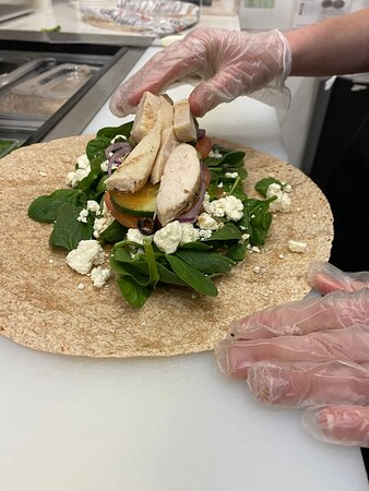 Erie, PA: Our Fresh Healthy Mediterranean Wrap.  It is the house citrus vinaigrette and the feta that make this one special. Did you know compared to other cheeses, feta is low in calories and fat, contains a high amount of B vitamins, phosphorus, and calcium. Feta also contains beneficial bacteria and fatty acids. Order online for pickup or delivery. Our kitchen is open 7 days a week's…