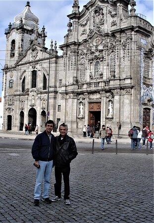 """Just arriving at """"Igreja do Carmo"""" - the magic twin churches of O Porto."""