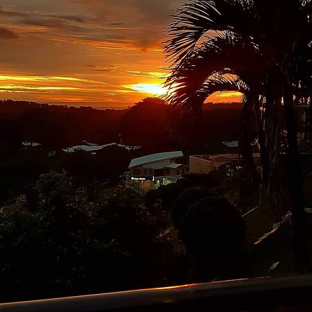 Sunset view from Eagle Ray Glamping Suite.