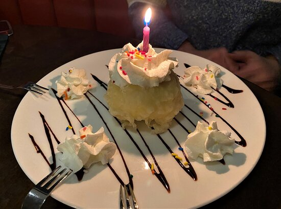 Fried Ice Cream - Birthday Candle
