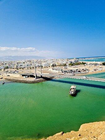 المنطقة الشرقية, عمان: From above of Al Ayjah Watch Tower in Sur, Oman