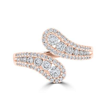 18ct Rose Gold Open Diamond Ring