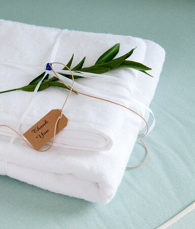 100% cotton towels for our precious guests.