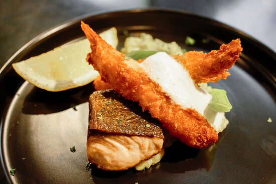 Fish-based dinner option available from the hotels RGB Grill - can be enjoyed from the grill, or from the luxury of suite balconies.