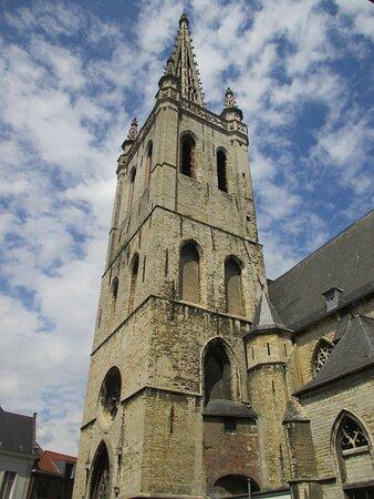 Leuven, spire of Sint-Geertruikerk