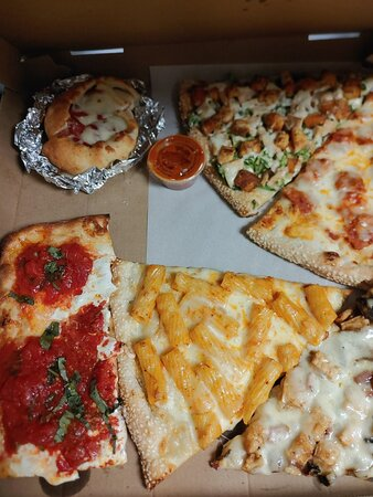 Assortment of specialty slices for dinner.