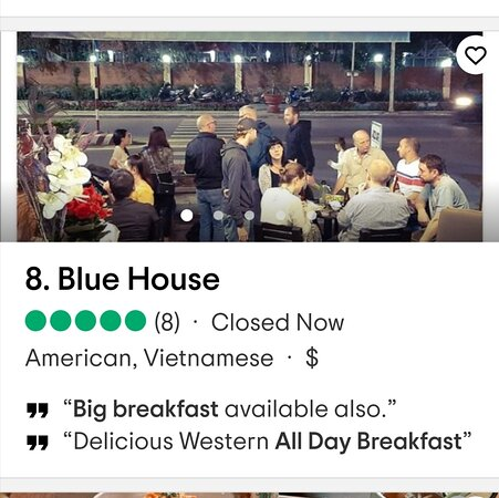 Blue House is one of the top 10 breakfast restaurants in Quy Nhon. All thanks go to our customers who have enjoyed our delicious western breakfasts and stimulating coffees.  Here are some reviews from our past and current guests.