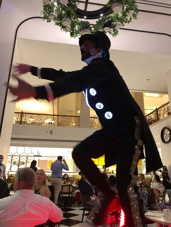 Some of the entertainment at the New Years Eve function