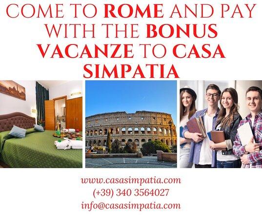 Rome, Italie : hotel al Centro di roma accetta pagaemnti con il Bonus Vacanza