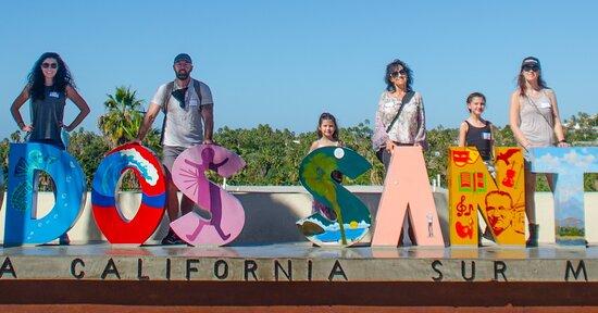 The incredible Todos Santos sign full of color and art #locomotionbaja #whattodoincabo #whattodointodossantos #loscabos #visitmexico #visittodossantos #activities #tours #todossantostour #bike #pedal #ecofriendly #fun #shopping #mexicanfood #wine #amazingtours #handcraft #mojito #familytrip #ecotours #mexico