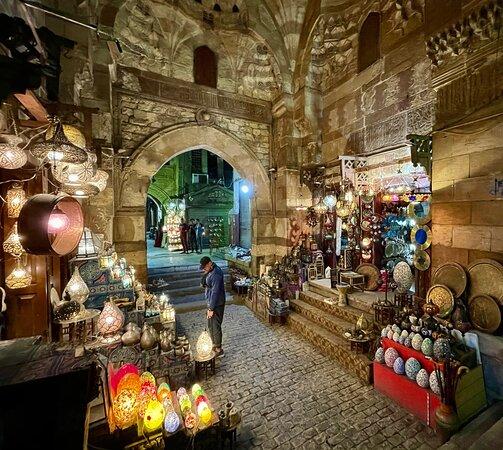 Shopping at the Khan El-Khalili.