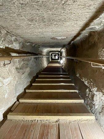 Climbing inside the Bent Pyramid