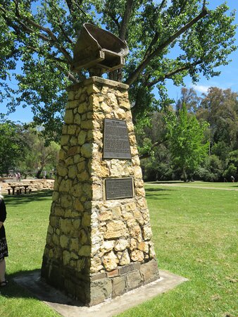 There's a centenary cairn nearby by that celebrates the local pioneers, and dates from 1962