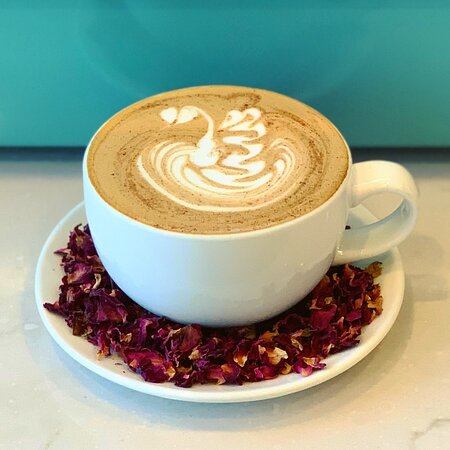 Seasonal Rose Cardamom Latte