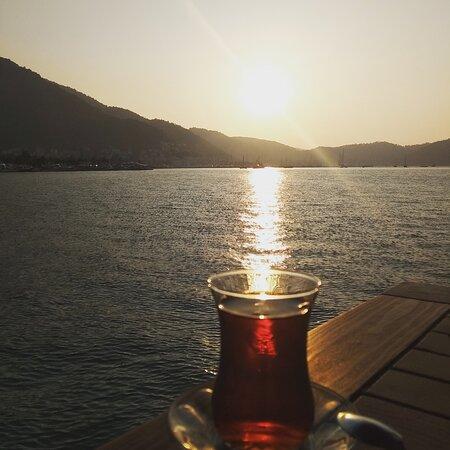 Fethiye Kordon , cay ve deniz  Tea and sea