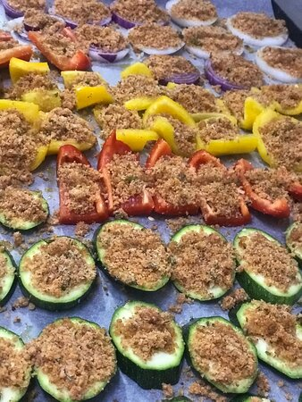 peppers and zucchini grilled