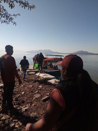 Mezcala, Mexico: Llegando a la isla!