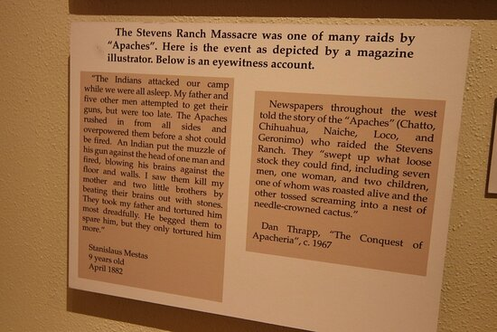 The Stevens Ranch Mascred many raids by Apaches