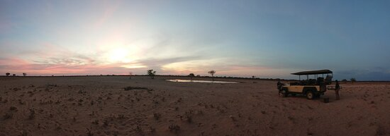 Sundowners during game drive