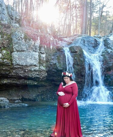Lake Catherine, AR: The falls were beautiful we did take the exit for a shorter walk to the waterfall picture taken January 2021 .