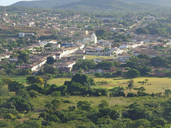 Vista de Rio de Contas do alto do Morro da Capelinha. Subida difícil, mas compensadora.