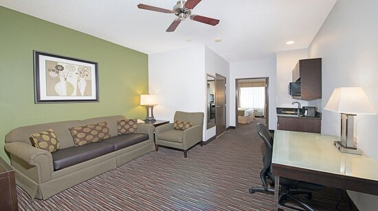 Riverwoods, IL: Living Area of Suite
